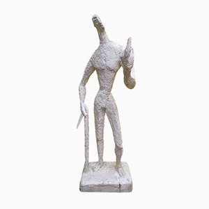Large Plaster Figure by Jeannine Nathan, 1980s