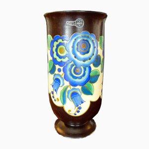 Vaso Art Deco in ceramica di Keramis, anni '30