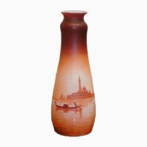Vaso Art Nouveau antico in vetro di D'Argental