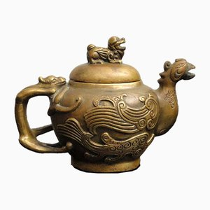 Antique Chinese Bronze Teapot Pitcher