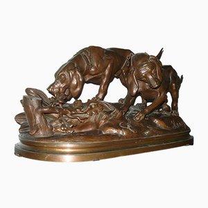 Escultura antigua de bronce de Hippolyte Heizler