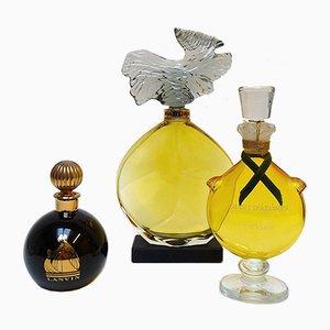 Botellas de perfume de Lanvin Paris, años 60. Juego de 3