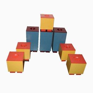Schachteln mit Bezügen von Michael Graves für Alessi, 1990er, 8er Set
