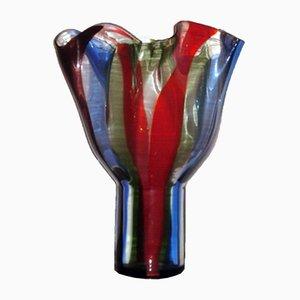 Vaso in vetro di Murano di Timo Sarpaneva per Venini, 1991