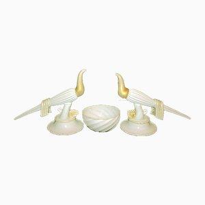 Glass Bird Sculptures by Napoleone Martinuzzi for Venini, Set of 3