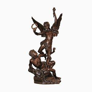 Sculpture d'Époque en Bronze par Charles Vital-Cornu
