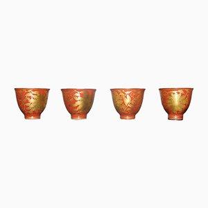 Copas antiguas de porcelana. Juego de 4
