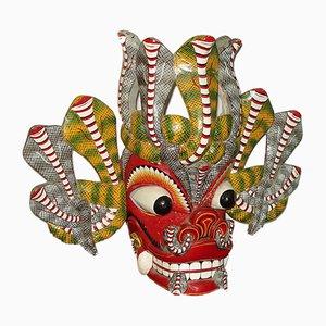 Escultura de máscara de baile Barong balinesa