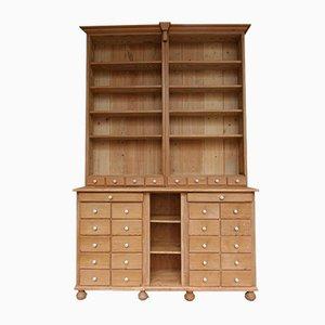 Mobiletto da farmacia antico in legno di conifera