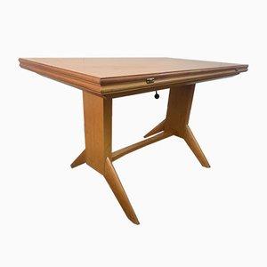 Tavolino da caffè Mid-Century impiallacciato in legno di ciliegio di Wilhelm Renz, Germania
