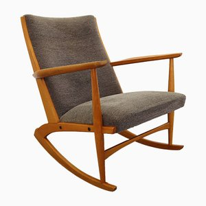Mid-Century Danish Birch Rocking Chair by Holger Georg Jensen for Kubus