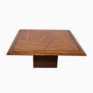 Mid-Century Inlaid Wood Coffee Table