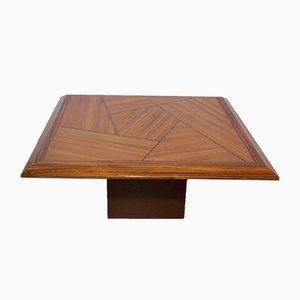 Table Basse Mid-Century en Bois Incrusté