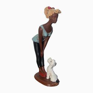 Mid-Century Keramik Figur Teenager von Cortendorf, 1950er , Modell-Nr. 1118