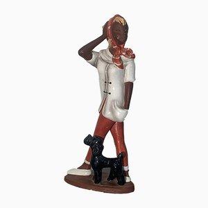 Mid-Century Keramik Figur Teenager von Cortendorf, 1950er , Modell-Nr. 1124