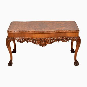 Queen Anne Style Burr Walnut Coffee Table, 1920s