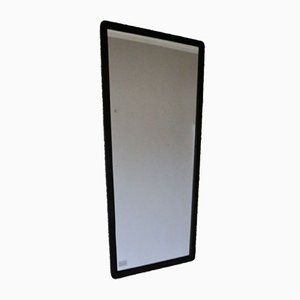 Danish Wood Stained Asymmetrical Mirror, 1950s