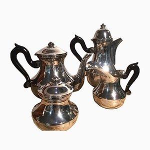 Italian Silver-Plated Tea & Coffee Service, 1960s, Set of 4