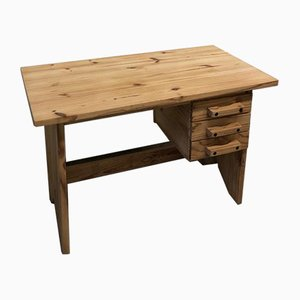 Brutalist Pine Desk, 1970s