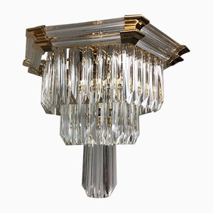 Brass & Glass Chandelier from Bakalowits & Söhne, 1970s