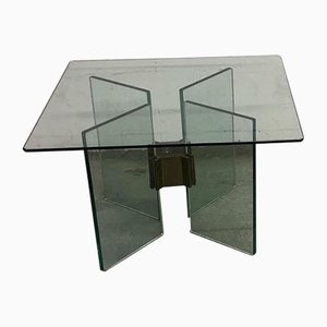 Glass & Brass Side Tables by Peter Ghyczy, 1970s, Set of 2