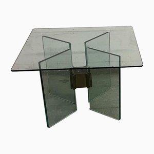 Tables d'Appoint en Verre et Laiton par Peter Ghyczy, 1970s, Set de 2