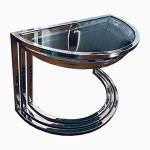 Space Age Steel & Glass Nesting Tables, 1970s