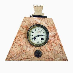 Horloge de Cheminée Art Nouveau en Marbre, 1920s