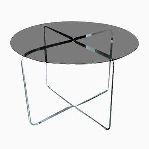 Mesa de comedor de vidrio, años 70