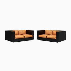Italian Saratoga 2-Seat Sofas by Massimo and Lella Vignelli for Poltronova, 1964, Set of 2