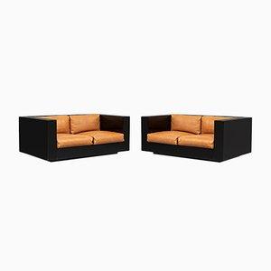 Italian Saratoga 2-Seat Sofas by Massimo and Lella Vignelli for Poltronova, 1964, Set of 2