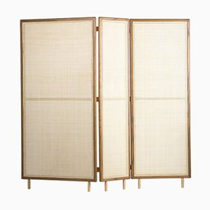Pantalla plegable Split de teca de Meghedi Simonian para Kann Design