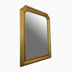 Espejo italiano de madera dorada, años 40