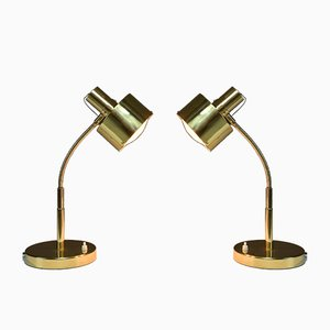 Italian Brass Table Lamps, 1960s, Set of 2