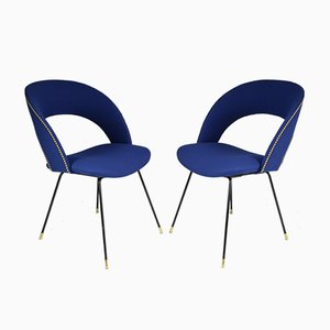Italian Side Chairs by Gastone Rinaldi for Rima, 1950s, Set of 2