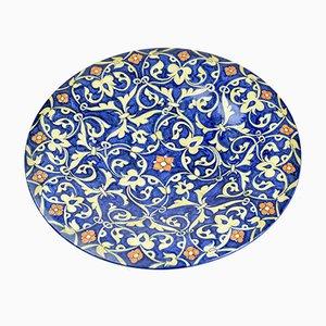 Plato de mesa italiano pintado a mano, años 30
