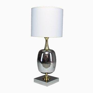Lámpara de mesa francesa de latón, años 70
