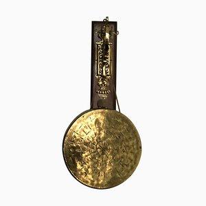 Antique Oak & Brass Hanging Dinner Gong