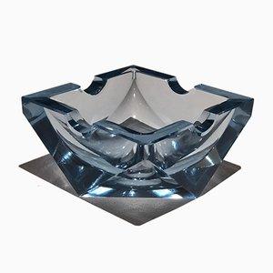 Cenicero Art Déco de vidrio, años 30