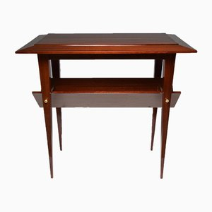 French Mahogany Side Table, 1950s
