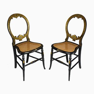 Antique French Napoleon III Chairs, Set of 2