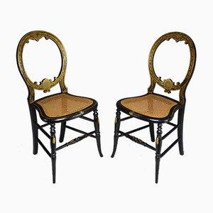 Sillas francesas Napoleón III antiguas. Juego de 2
