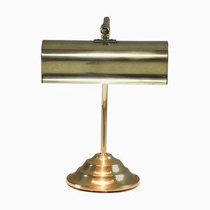 Lámpara de mesa de piano francesa de latón, años 50