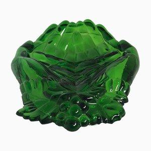 Platos de vidrio moldeado, años 60. Juego de 4