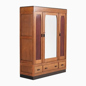 Art Deco Oak School Wardrobe, 1920s