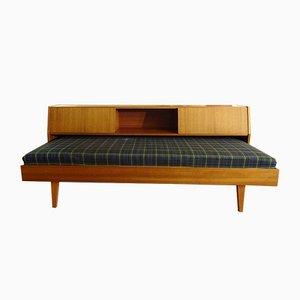 Sofá cama de teca, años 50