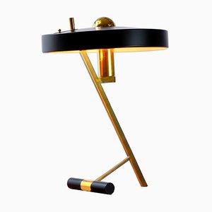 Lámpara de mesa modelo Z de latón de Louis C. Kalff para Philips, años 50