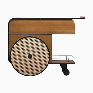 Carrello bar Trink in teak di Studio Caramel per Kann Design