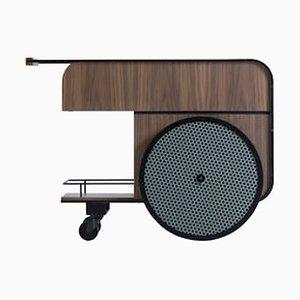 Chariot de Bar Trink en Noyer par Studio Caramel pour Kann Design
