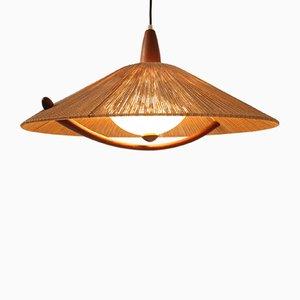 Scandinavian Teak Ceiling Lamp, 1960s
